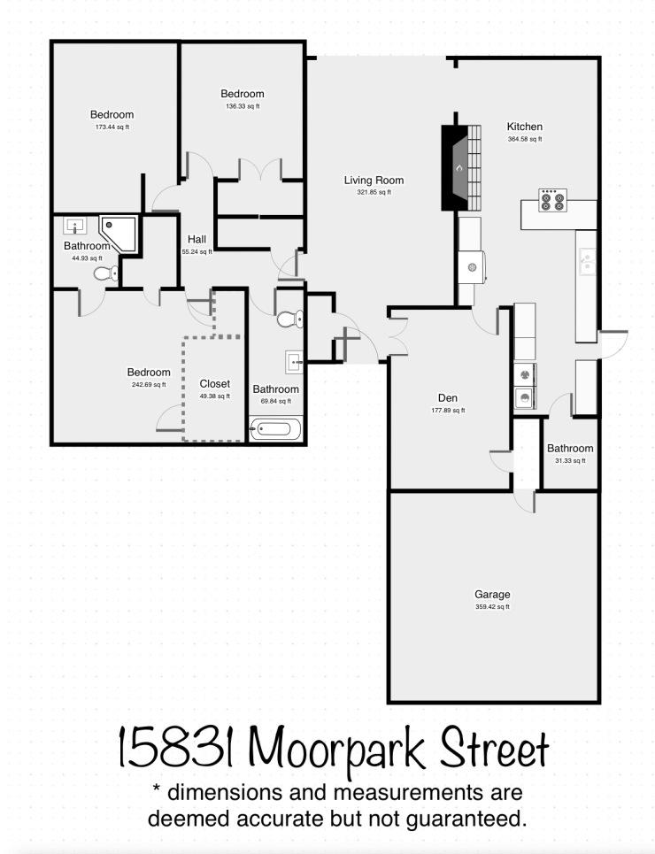 15831 Moorpark floorplan